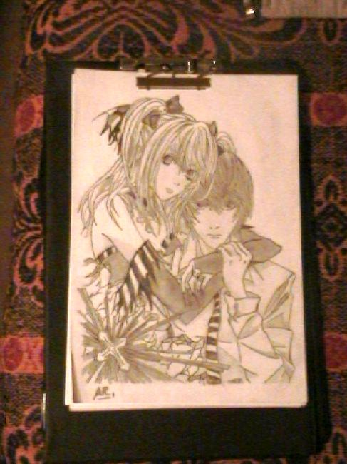 Mi Fan art.. Death Note y Naruto.. disk 4hirzd10