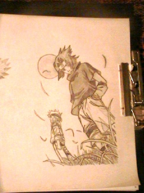 Mi Fan art.. Death Note y Naruto.. disk Vqeik10