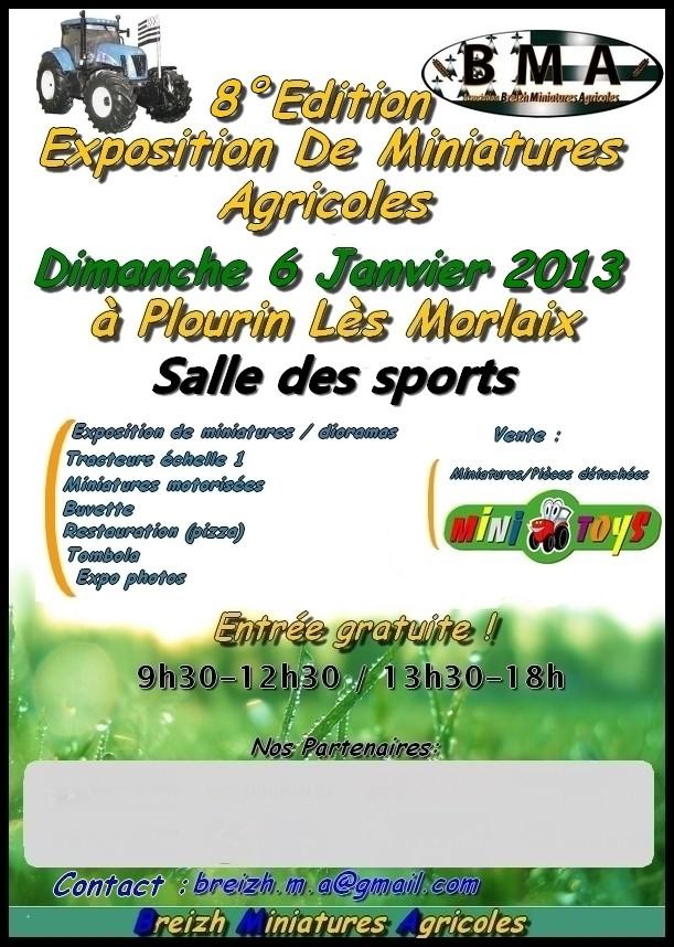 8ème exposition de miniatures agricoles en Bretagne Affich11