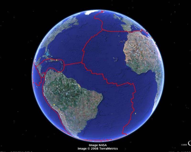 tectonique des plaques / dérive des continents / Plaques océaniques Tecto310