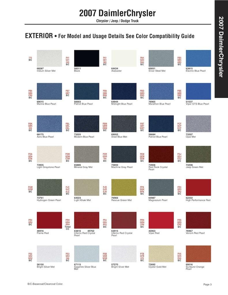 Как узнать свой код краски. 159