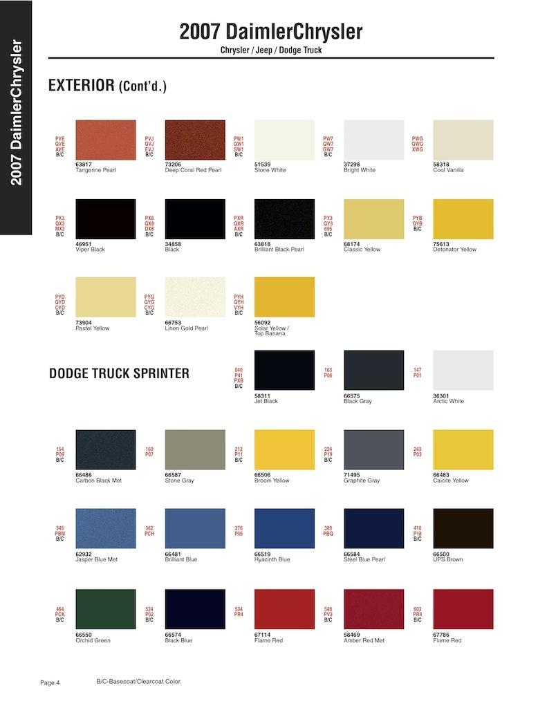 Как узнать свой код краски. 345