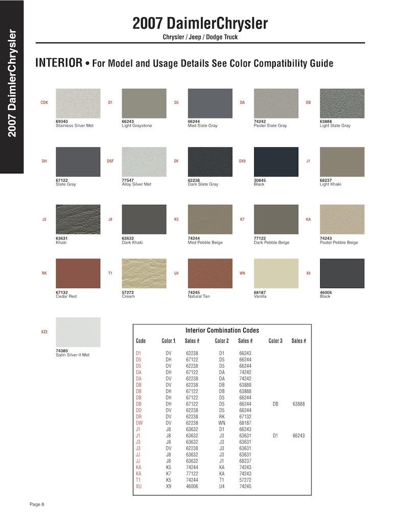 Как узнать свой код краски. 631