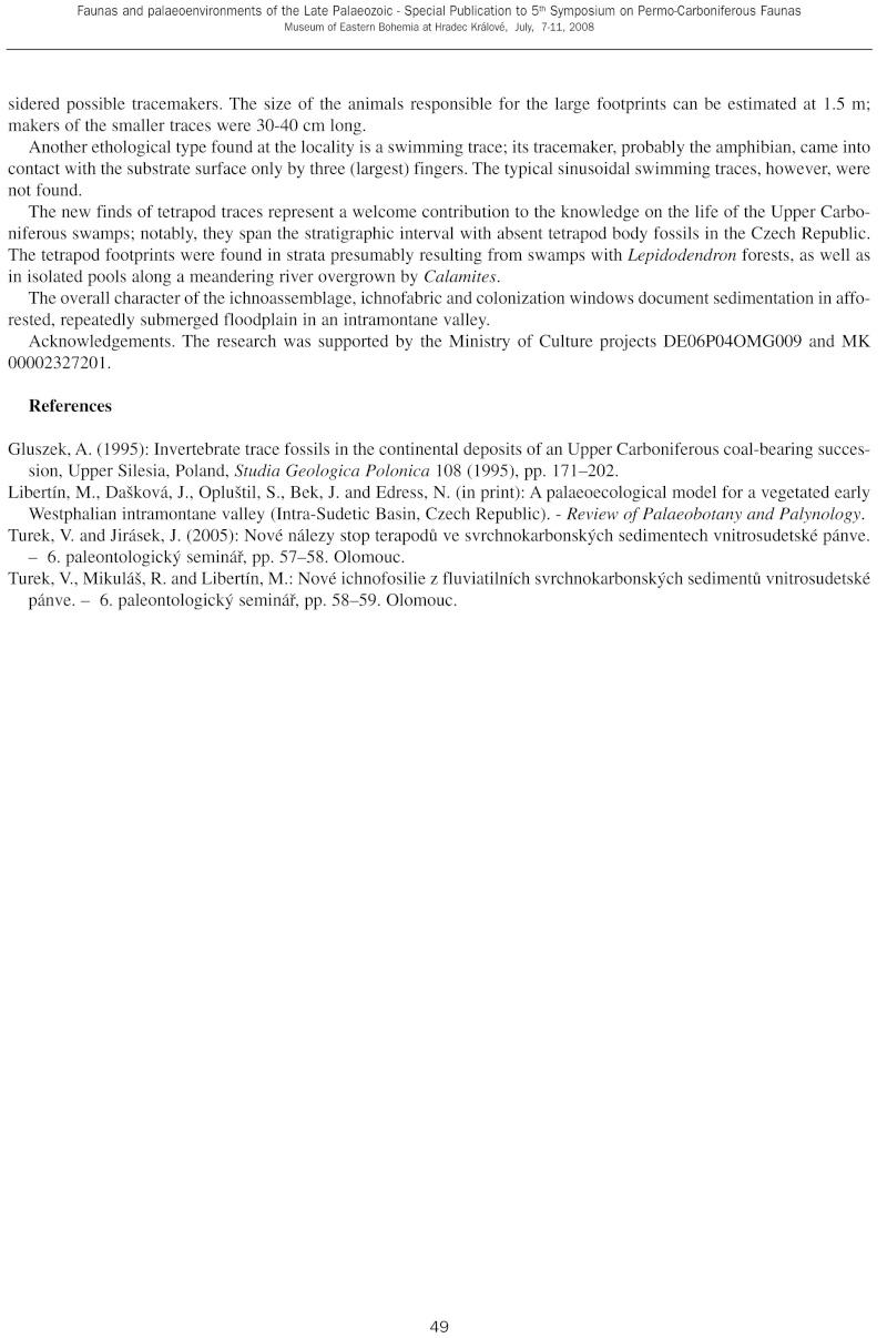 Pistes d 'arthropodes et de vers Specia12