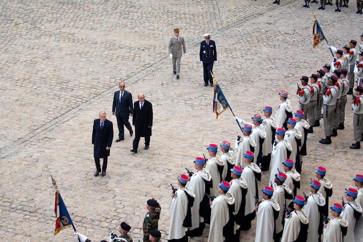 Passation de témoin à l'Ordre de la Libération(Source Ministère des Armées Françaises) Ceremo11
