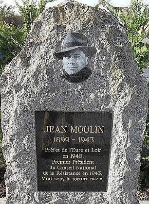Histoire et Biographie de Jean MOULIN,source WIKIPEDIA. Monume10