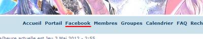 """Installation bouton  """"Facebook"""" Facebo10"""