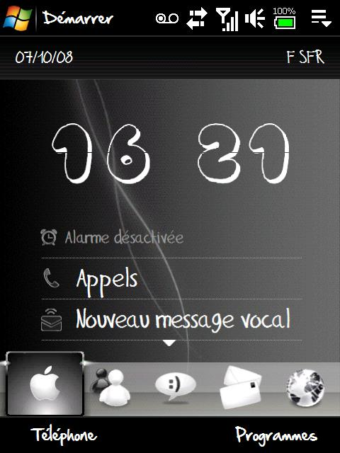 Theme Black & white (1er theme) + horloge TwyliteZone (MAJ) Screen10