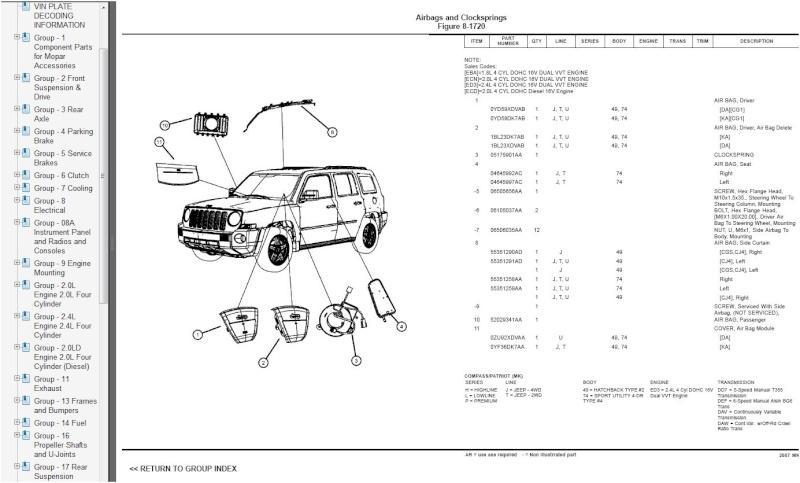 Jeep Patriot: сервисные мануалы, багрепорты, электронные руководства. Patrio13
