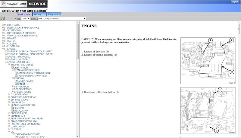 Jeep Patriot: сервисные мануалы, багрепорты, электронные руководства. Servic10