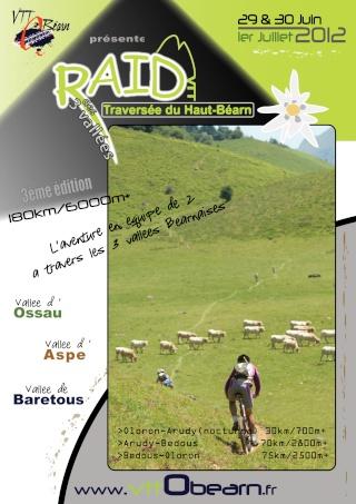 [29,30 Juin et 1er Juillet 2012] 3ème édition, le Raid des 3 Vallées – Traversée du Haut-Béarn Affich12
