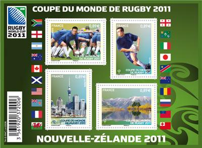 """Les timbres """"sport"""" français de l'été 2011 : Rugby & Judo 11111010"""