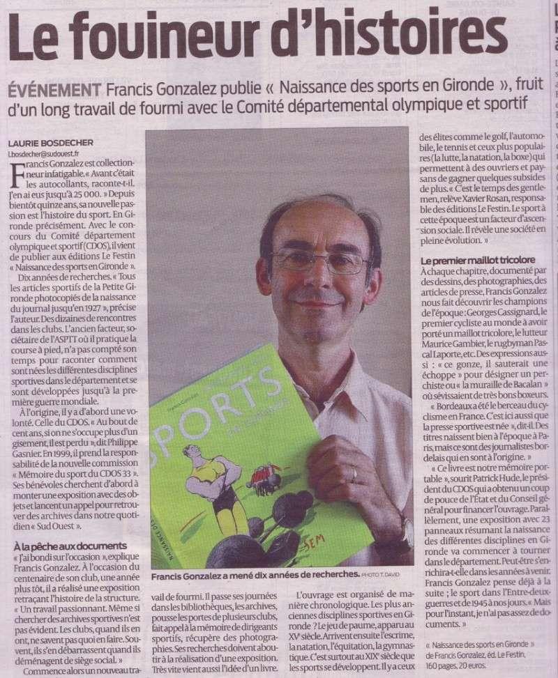 « Naissance des sports en Gironde » par Francis GONZALEZ  Articl10
