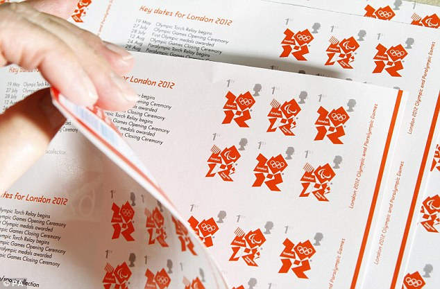 Timbre Officiel (Royaume-Uni) Jeux Olympiques de Londres 2012 - Timbre d'usage courant... Articl11