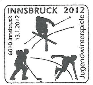 1 new stamp to be unveiled in Austria to celebrate the 1st Winter Youth Olympic Games, Innsbruck 2012 Cachet12