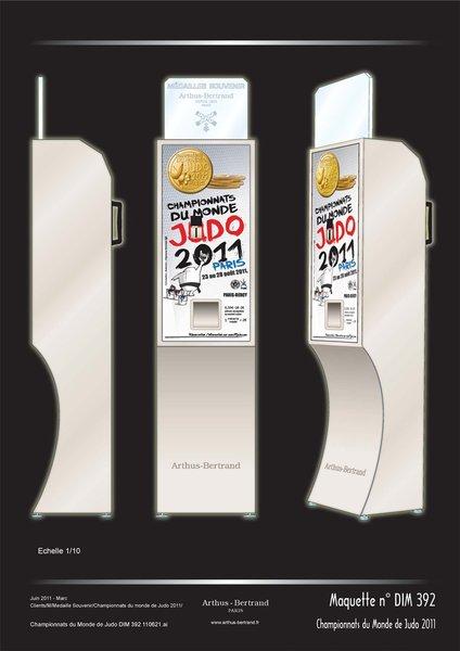 Médaille de Collection des Championnats du Monde de Judo 2011 à Paris Champi10