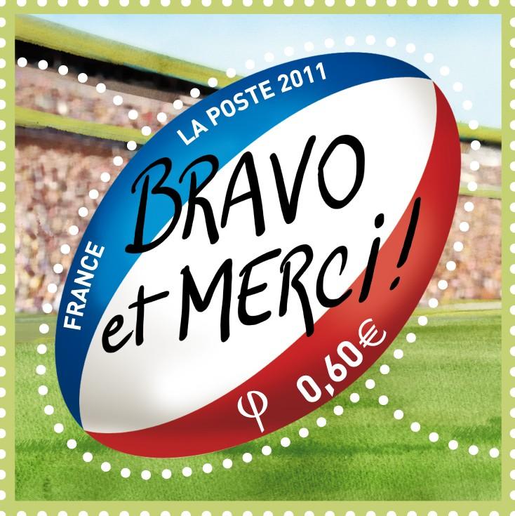 Coupe du Monde de Rugby IRB 2011 - Seconde place de l'équipe de France Merci11
