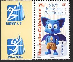 Timbres Nouvelle Calédonie / France - Jeux du Pacifique 2011 Nc5a10