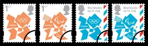 2 new stamps unveiled by te Royal Mail celebrating the London 2012 Games Newsta10