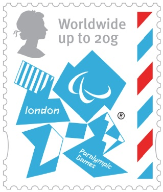 2 new stamps unveiled by te Royal Mail celebrating the London 2012 Games Paraww10
