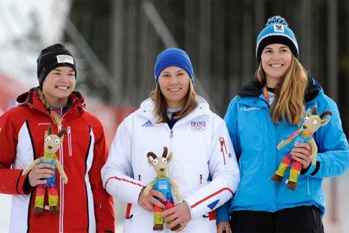 Jeux Olympiques de la Jeunesse d'hiver - Innsbruck 2012 - La 1ere médaille d'OR de l'histoire des JOJ d'hiver est Française... Bravo Estelle !!! Podium10