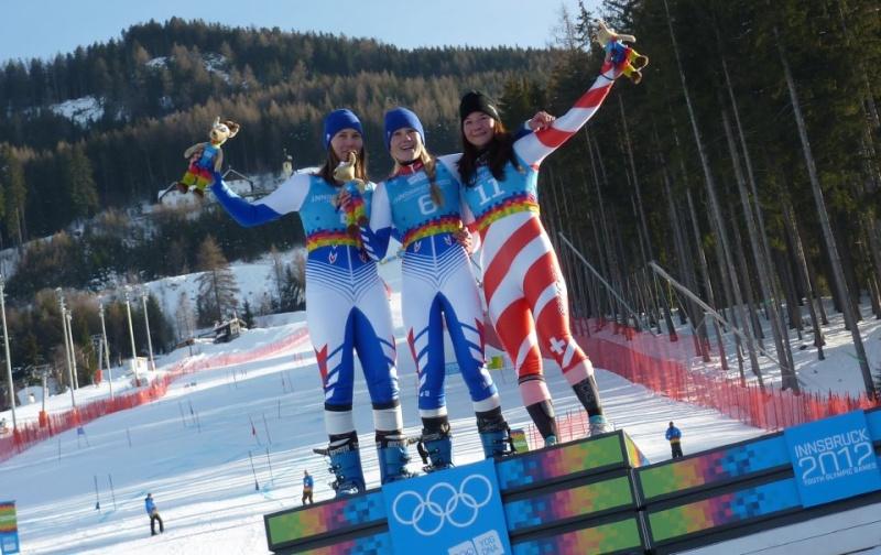 5eme Journée - Ski Alpin, Slalom Géant Féminin - OR & ARGENT au rendez-vous !!! Podium13