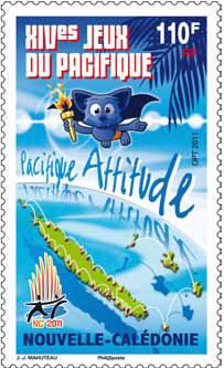 Timbres Nouvelle Calédonie / France - Jeux du Pacifique 2011 Pointp10