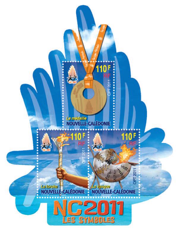 Timbres Nouvelle Calédonie / France - Jeux du Pacifique 2011 Pointp11