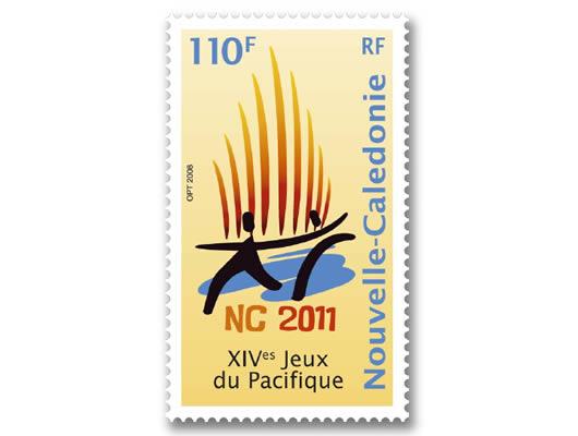 Timbres Nouvelle Calédonie / France - Jeux du Pacifique 2011 Progra10