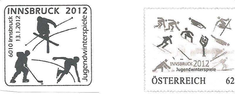 Innsbruck 2012, Winter Youth Olympic Games - Philatelic Exhbition ! Timbre12