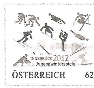 1 new stamp to be unveiled in Austria to celebrate the 1st Winter Youth Olympic Games, Innsbruck 2012 Timbre13