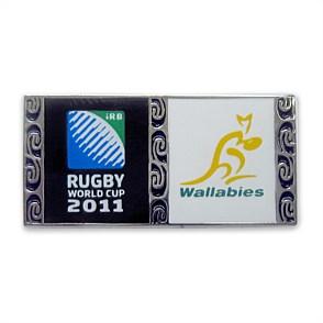 Pin's - Coupe du Monde de Rugby de l'IRB Nouvelle-Zélande 2011 Wallab10