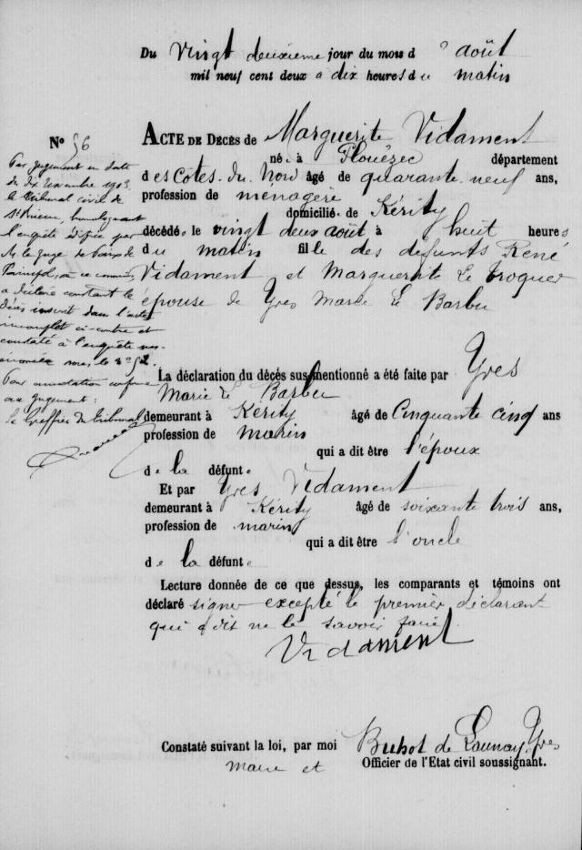 Déchiffrage annotation en marge Marie_10