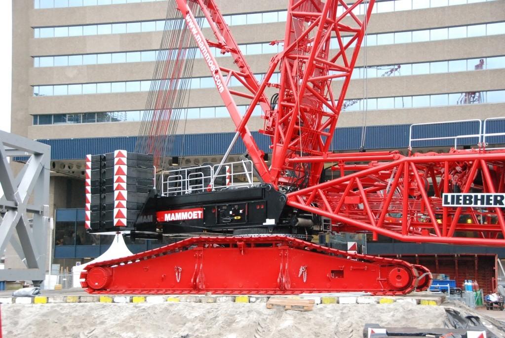 Opbouw rupskranen Den Haag CS, 07-09-2008 Dsc_1410