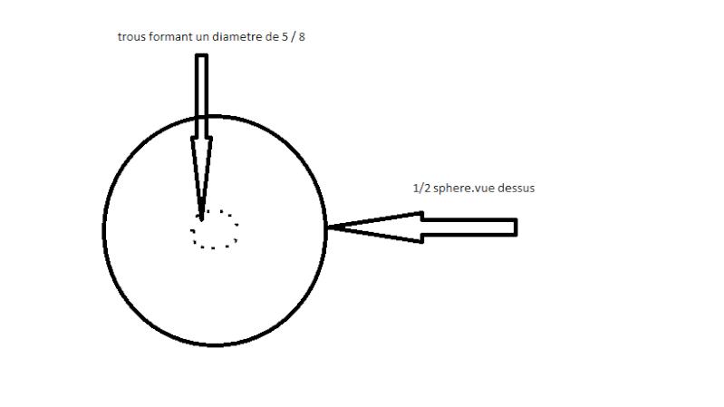 Trouer une demi-sphère en inox ou en acier. Sans_t11