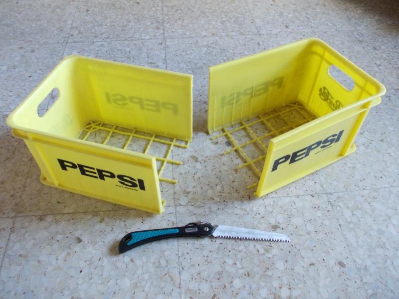 Caja de transporte hecha con dos cajas de Pepsi 332
