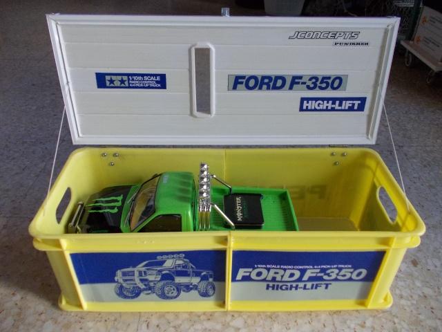 Caja de transporte hecha con dos cajas de Pepsi Cosas110