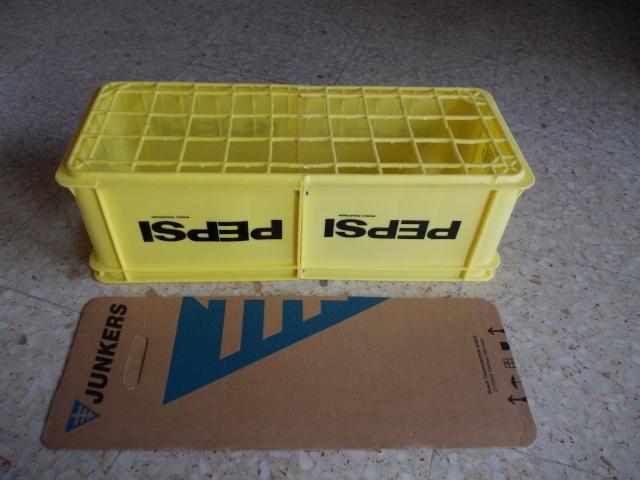 Caja de transporte hecha con dos cajas de Pepsi Cosas_85
