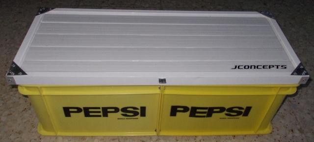 Caja de transporte hecha con dos cajas de Pepsi Cosas_89