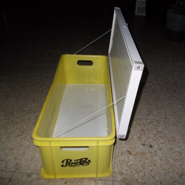 Caja de transporte hecha con dos cajas de Pepsi Cosas_92