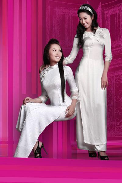 Áo dài trắng nữ sinh Thai-t11