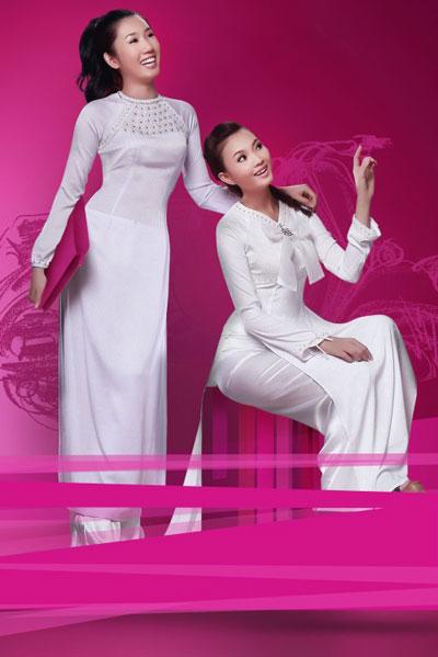 Áo dài trắng nữ sinh Thai-t12