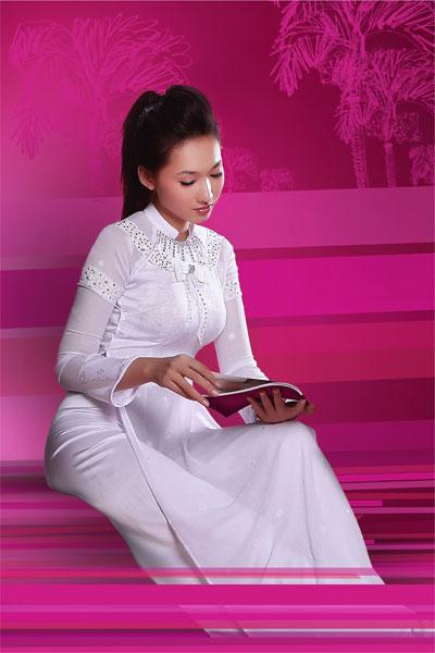 Áo dài trắng nữ sinh Thai-t13