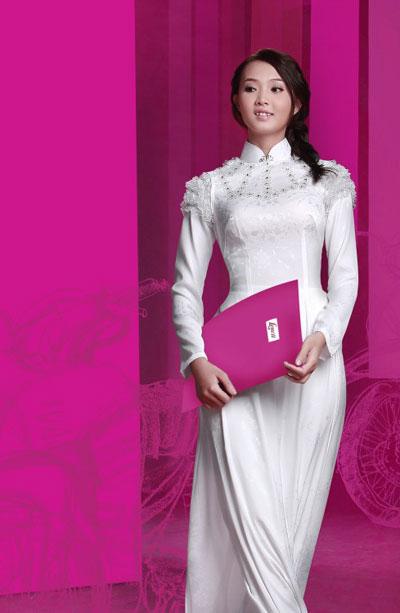 Áo dài trắng nữ sinh Thai-t14