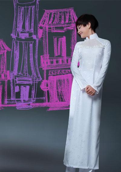 Áo dài trắng nữ sinh Thai-t16