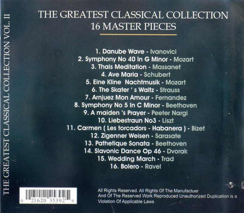 The Greatest Classical Collection Thegre11