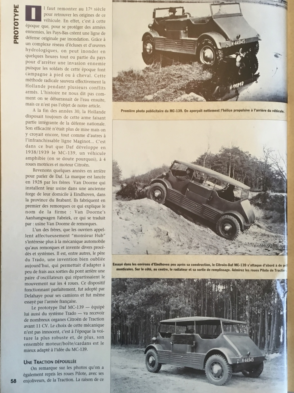 Prototype voiture 4x4 amphibie DAF MC 139 (Citroën traction avant) E892dd10