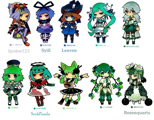 [ACP12] 100 Coloured pencil Gijinka group! -Open group- >>39/100<< Greenb13