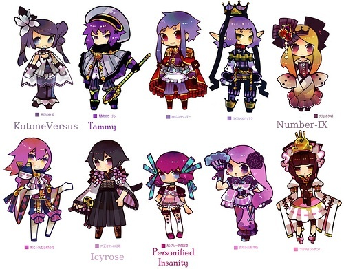 [ACP12] 100 Coloured pencil Gijinka group! -Open group- >>39/100<< Purple12