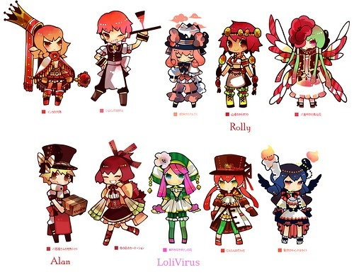 [ACP12] 100 Coloured pencil Gijinka group! -Open group- >>39/100<< Redblu10